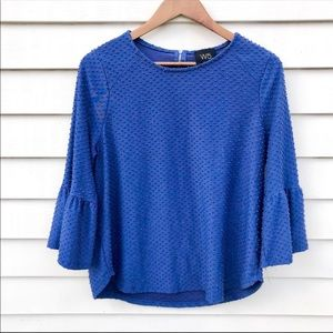 Anthropologie W5 Bell Sleeve Blouse
